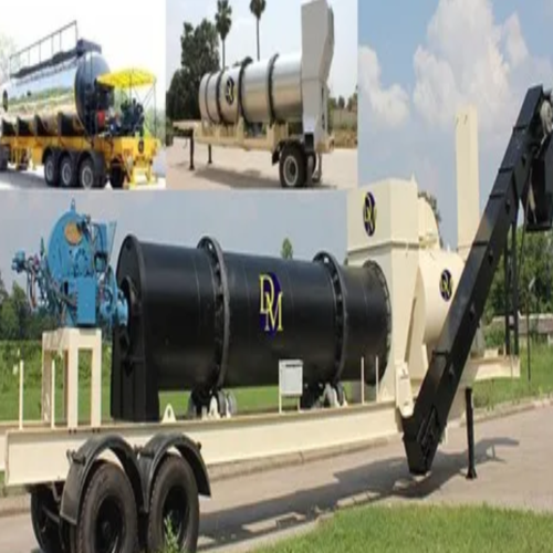 Mobile asphalt plant1